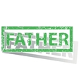 Green outlined FATHER stamp vector image vector image