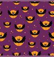 halloween seamless pattern with cartoon cute bat vector image