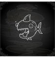 Hand Drawn Happy Shark vector image
