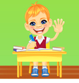 happy smiling schoolboy vector image