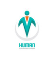 human character - logo template concept vector image