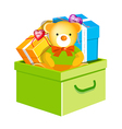icon toy in the box vector image vector image
