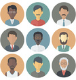 Icons Set of Persons Male Different Ethnic vector image vector image