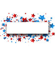independence day banner with stars vector image