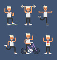 Kinds of Sport Set of Flat Style of Young Men vector image vector image