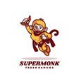 logo super monkey mascot cartoon style vector image vector image