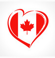 love canada emblem colored vector image vector image