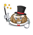 magician bundt cake mascot cartoon vector image vector image