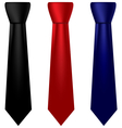 multicolored silk ties set vector image
