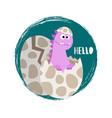 newborn bagirl dinosaur banner flat vector image vector image