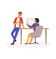 office work flat company vector image