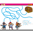 paths or maze education game vector image