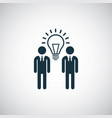 people idea bulb icon for web and ui on white vector image