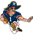 pirate sports logo mascot football vector image vector image