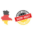 pixelated map of saxony-anhalt state colored in vector image vector image