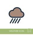 rain cloud icon downpour rainfall weather vector image vector image