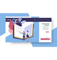 reading online web page template books and vector image