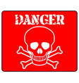 red danger sign vector image vector image