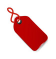 red price tag icon vector image