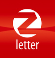 Round logo letter Z on a red background vector image vector image