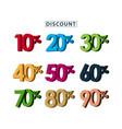 sale discount set template design vector image