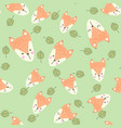 scandinavian seamless pattern with foxes vector image vector image