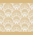seamless decorative lace scales pattern on beige vector image vector image