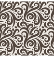 Seamless floral pattern with curls and dots vector image vector image