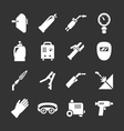Set icons of welding vector image vector image