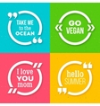 Set of quote frame templates with text vector image vector image