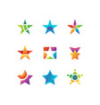 shooting night star rising stars logo vector image vector image