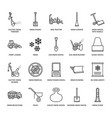 snow removal flat line icons ice relocation vector image vector image