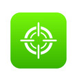 target icon digital green vector image vector image