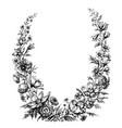 vintage floral wreath vector image vector image