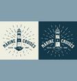 vintage marine cruise logotype vector image