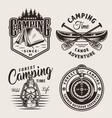 vintage outdoor recreation logos vector image vector image