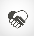 web icon of shaking hands Digital application vector image vector image