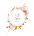 wedding invite save date card design blush peach vector image