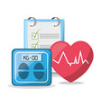 weighing mashine with heartbeat and tips list vector image vector image