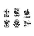 wine logo or label winery drink symbol vector image vector image