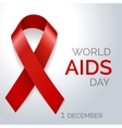 World AIDS day red ribbon poster vector image