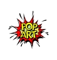 Pop Art Comic Book Style vector image