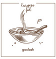 goulash soup sketch icon for european hungarian vector image