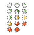 Timer icons set vector image