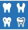 white teeth icons set vector image