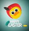 Easter Chick - Chicken Card vector image