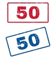 50 Rubber Stamps vector image vector image