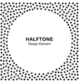 Abstract Halftone Dots Frame Circle Background vector image vector image