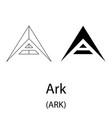 ark black silhouette vector image vector image