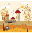 autumn farm vector image vector image